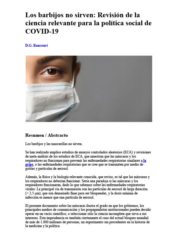 Les masques n'empêchent PAS la transmission des virus